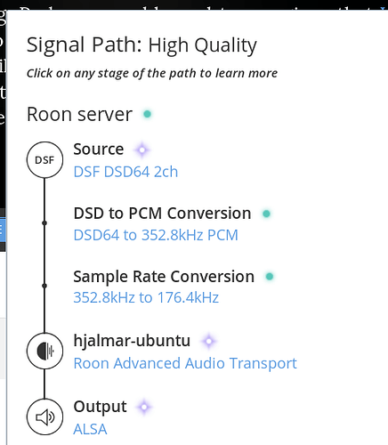 PiCoreplayer on Pi2, not getting DSD to work over HDMI