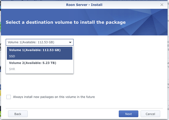 Synology Set Up for Roon - QNAP/Synology NAS - Roon Labs Community
