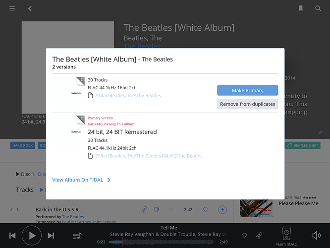 60 tracks in Beatles White album! - Roon Software - Roon