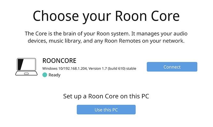 Choose RoonCore scrnsht