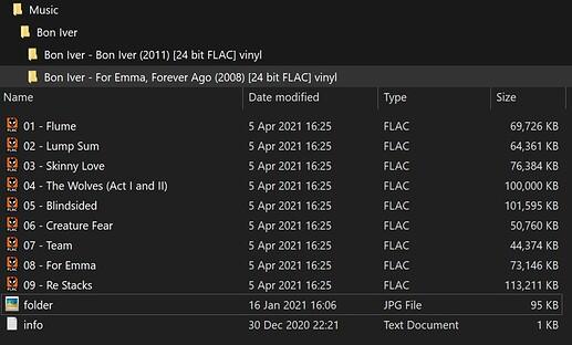File Structure BonIver