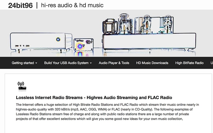 Internet Radio FLAC Stations Swap Meet - Roon Software - Roon Labs