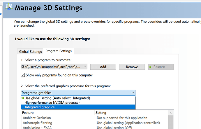Need help getting roon working [Solved - Graphics Drivers