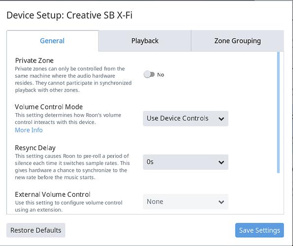 Creative SB X-Fi audio card - No Sound via Roon - Support - Roon