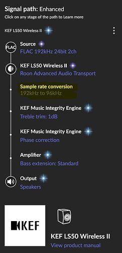 KEF 96Khz wired