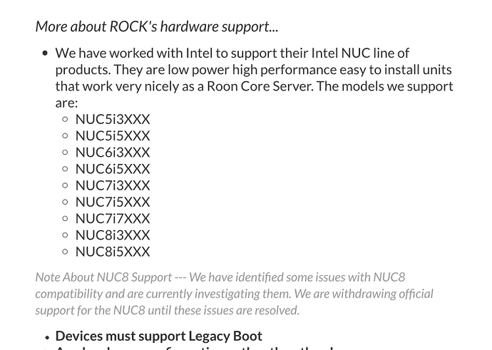 NUC8 / Intel® Wireless-AC 9560 / Linux driver wifi - ROCK - Roon