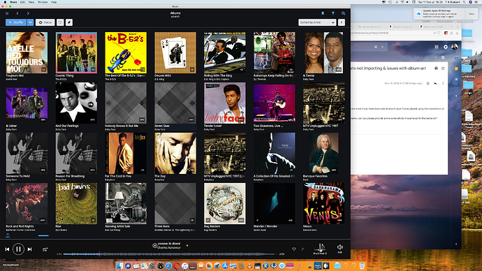 iTunes Playlists not importing & issues with album art