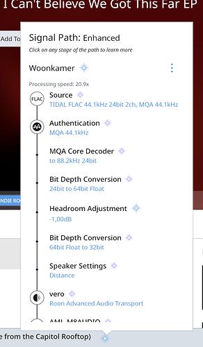 Vero DSP enable MQA decoder MQA file