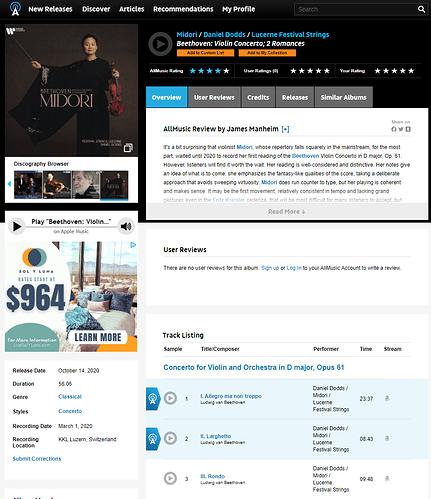 Beethoven-Midori-AllMusic