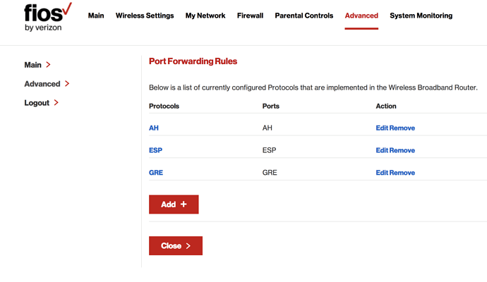 Remote connection via VPN - [Resolved] but ongoing