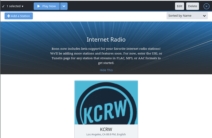 How do I delete an internet radio station? - Roon Software