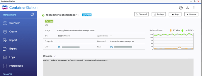 How to: Install Roon Extension Manager on QNAP - Roon API - Roon