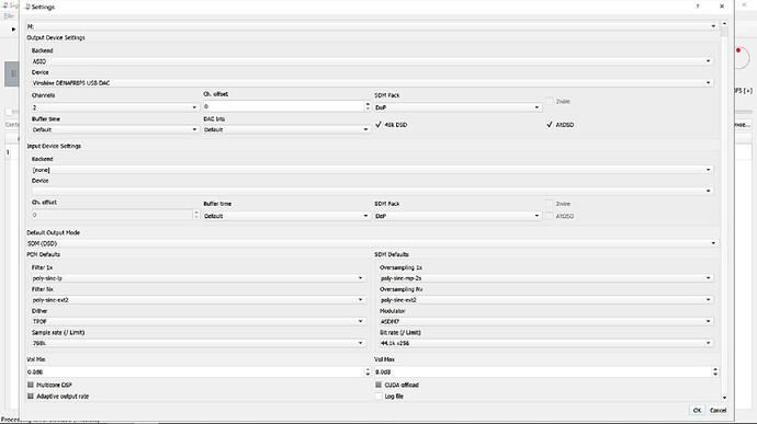 Capture d'écran (Régalges DSD 256)