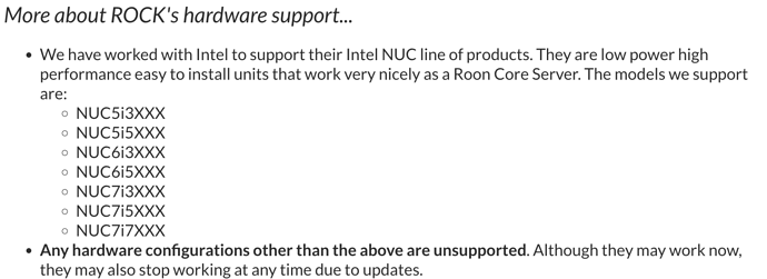 The Best NUC for ROCK? - ROCK - Roon Labs Community
