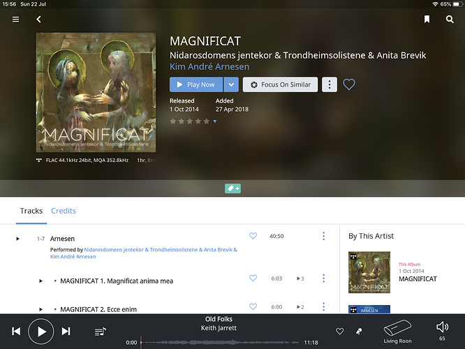 Beautiful example of MQA music from tidal streaming (352kHz