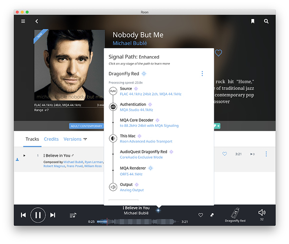 Roon will stream MQA, but not play purchased MQA album