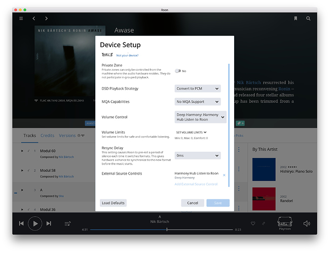 Roon Extension: Deep Harmony - rich feature set for Logitech Harmony