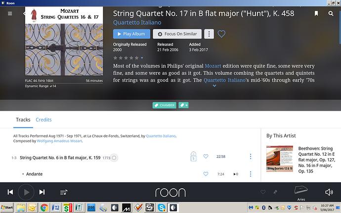 Having a problem with Quartetto Italiano Mozart String Quartets