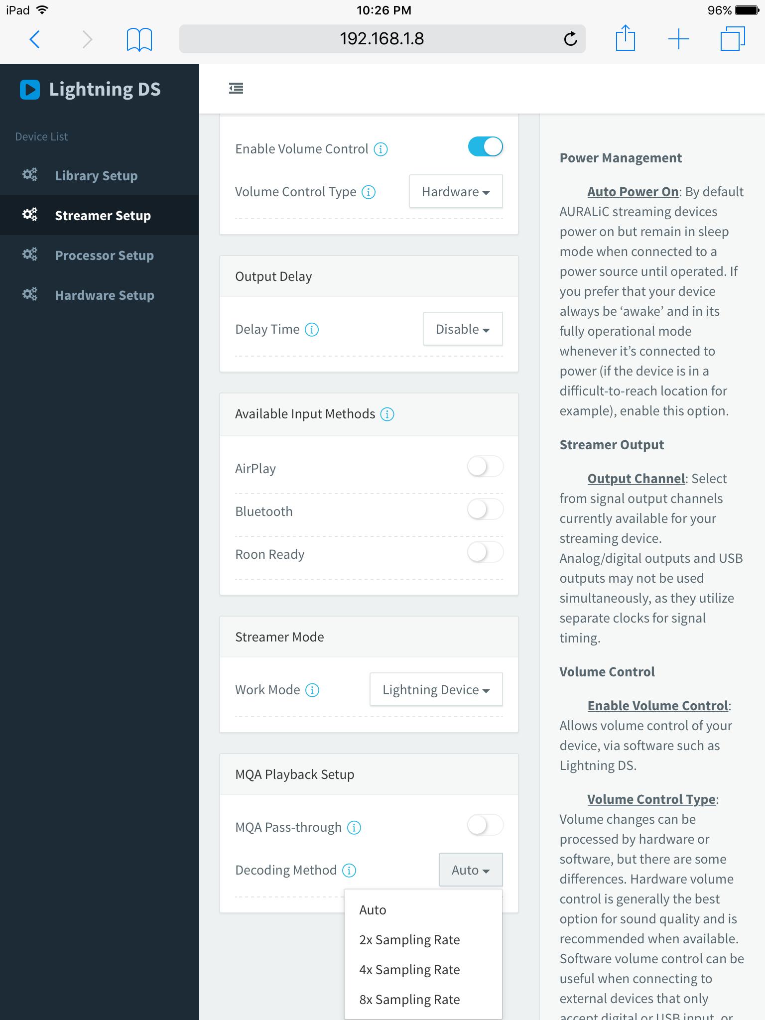 Auralic new beta firmware 5. 0 support