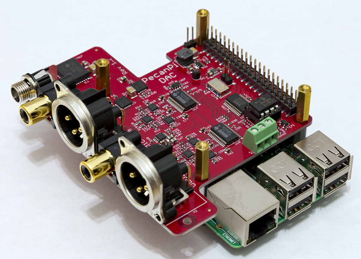 PecanPi -- Next Generation Raspberry Pi DAC and Streamer