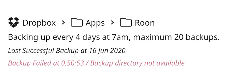roon backup config