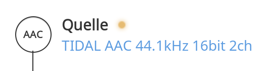 Tidal AAC (High) content bitrate not displayed in 1 4 (build