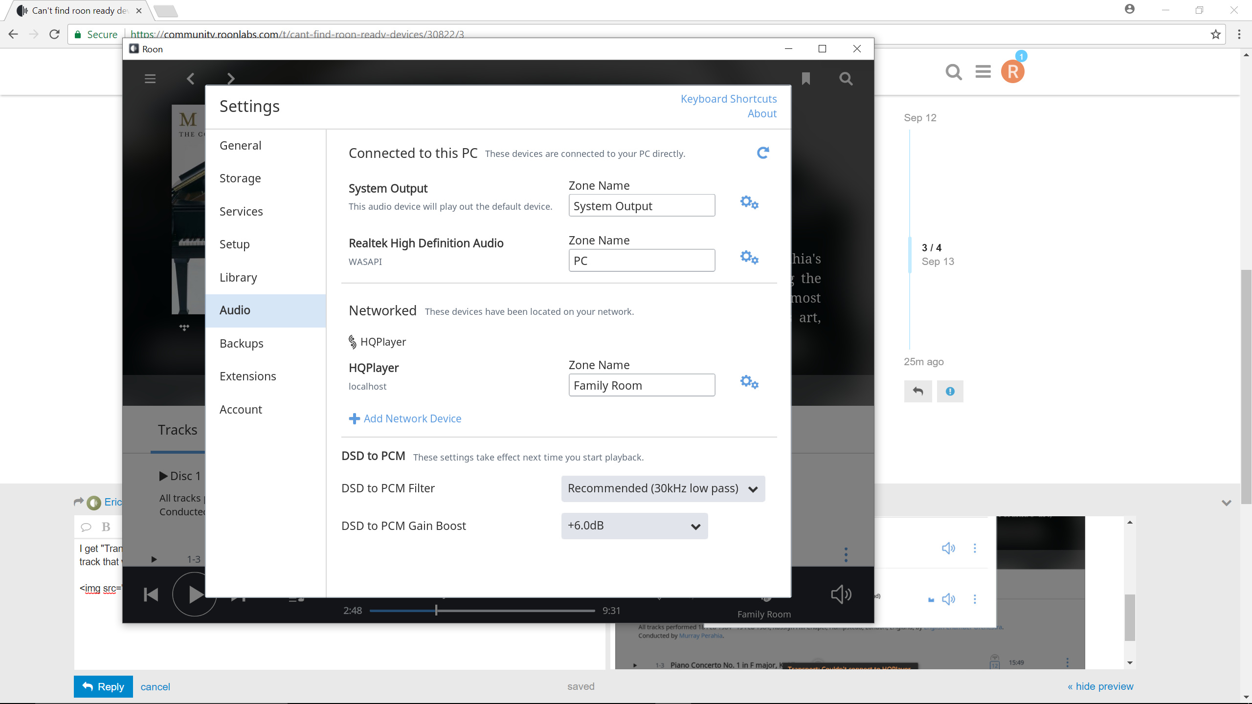 Can't find roon ready devices - Support - Roon Labs Community