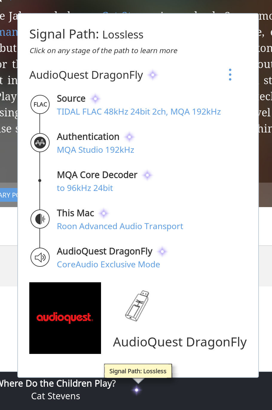 iOS playing hi res with Roon and no external DAC? - TIDAL