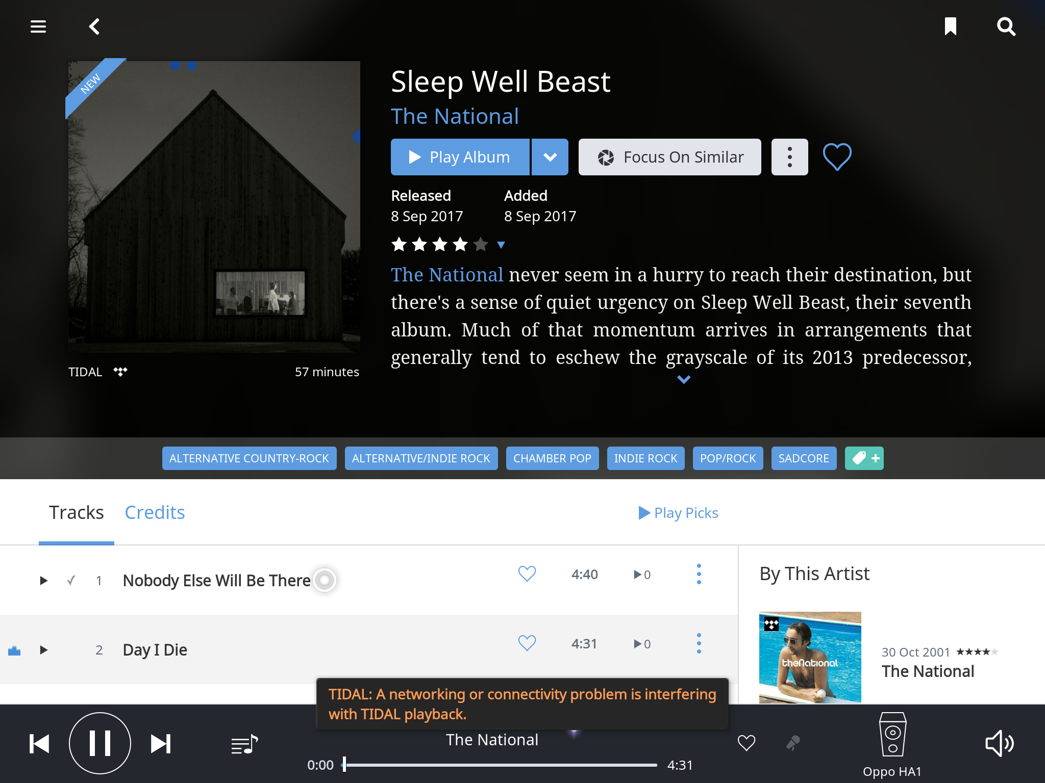 Tidal playback stops after a couple of seconds - TIDAL - Roon Labs